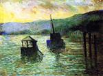Maximilien Luce  - Bilder Gemälde - Sévres, The Flood