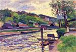 Maximilien Luce  - Bilder Gemälde - Tavern by the Water