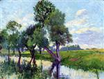 Maximilien Luce  - Bilder Gemälde - The Banks of the Cure