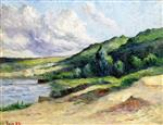 Maximilien Luce  - Bilder Gemälde - The Banks of the Seine at Rolleboise