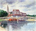 Maximilien Luce  - Bilder Gemälde - The Bridge over the Yonne and the Cathedral