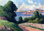 Maximilien Luce  - Bilder Gemälde - The Estuary of the Trieux
