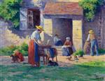 Maximilien Luce  - Bilder Gemälde - The Farm at Bassy-sur-Cure