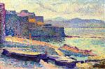 Maximilien Luce  - Bilder Gemälde - The Fishing Port at Saint-Tropez
