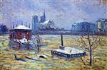 Maximilien Luce  - Bilder Gemälde - The Flood