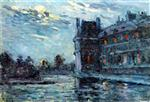 Maximilien Luce  - Bilder Gemälde - The Flood of 1910, the Pavillon de Flore