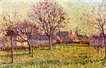 Maximilien Luce  - Bilder Gemälde - The Orchard at Eragny