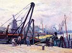 Maximilien Luce  - Bilder Gemälde - The Port of Amsterdam