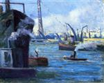 Maximilien Luce  - Bilder Gemälde - The Port of Rouen
