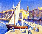 Maximilien Luce  - Bilder Gemälde - The Port of Saint-Tropez