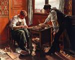 Maximilien Luce  - Bilder Gemälde - The Shoemaker, the Two Givort Brothers