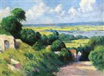 Maximilien Luce  - Bilder Gemälde - View of the Seine from the Heights at Mericourt
