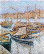 Henri Martin  - Bilder Gemälde - Port of Marsailles with Bell Tower