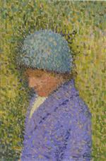 Henri Martin  - Bilder Gemälde - Portrait of a young girl