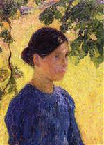 Henri Martin  - Bilder Gemälde - Portrait of Woman