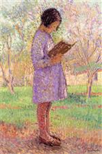 Bild:Young girl reading
