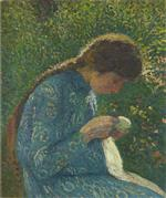 Bild:Young Girl Sewing