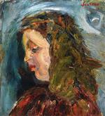 Chaim Soutine  - Bilder Gemälde - Head of a Girl