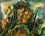 Chaim Soutine  - Bilder Gemälde - Hill at Céret