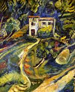 Chaim Soutine  - Bilder Gemälde - House in the Woods