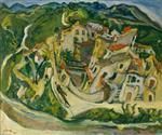 Chaim Soutine  - Bilder Gemälde - Houses at Cagnes