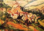 Chaim Soutine  - Bilder Gemälde - Houses at Céret