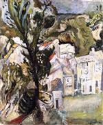 Chaim Soutine  - Bilder Gemälde - Landscape of the Midi