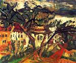 Chaim Soutine  - Bilder Gemälde - Landscape of the South of France