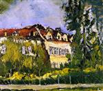 Chaim Soutine  - Bilder Gemälde - Landscape with House