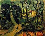 Chaim Soutine  - Bilder Gemälde - Landscape with Houses