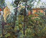 Chaim Soutine  - Bilder Gemälde - Landscape with Houses-2