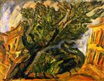 Chaim Soutine  - Bilder Gemälde - Landscape with Large Tree