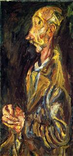Chaim Soutine  - Bilder Gemälde - Praying Man (Racine)