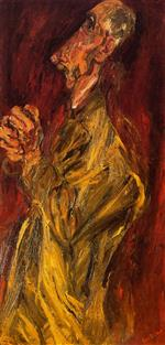 Chaim Soutine  - Bilder Gemälde - Praying Man