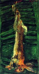 Chaim Soutine  - Bilder Gemälde - Rabbit on Green Shutter