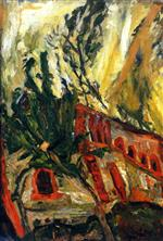 Chaim Soutine  - Bilder Gemälde - Red Viaduct