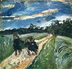 Chaim Soutine  - Bilder Gemälde - Return from School After the Storm
