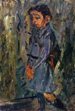 Chaim Soutine  - Bilder Gemälde - School Boy in Blue