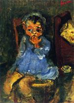 Chaim Soutine  - Bilder Gemälde - Seated Child in Blue
