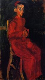 Chaim Soutine  - Bilder Gemälde - Seated Choir Boy