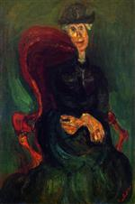 Chaim Soutine  - Bilder Gemälde - Seated Woman