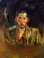 Chaim Soutine  - Bilder Gemälde - Self-Portrait with Beard