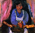 Chaim Soutine  - Bilder Gemälde - Servant Girl in Blue