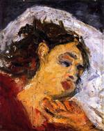 Chaim Soutine  - Bilder Gemälde - Sleeping Woman