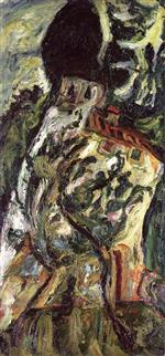 Chaim Soutine  - Bilder Gemälde - Small Tree in Front of a House