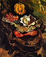 Chaim Soutine  - Bilder Gemälde - Table with Food