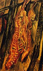 Chaim Soutine  - Bilder Gemälde - The Beef