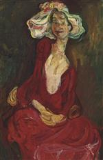 Chaim Soutine  - Bilder Gemälde - The Big Hat