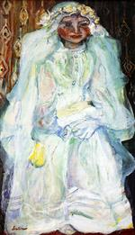 Chaim Soutine  - Bilder Gemälde - The Communicant