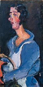 Chaim Soutine  - Bilder Gemälde - The Cook (Woman in blue)
